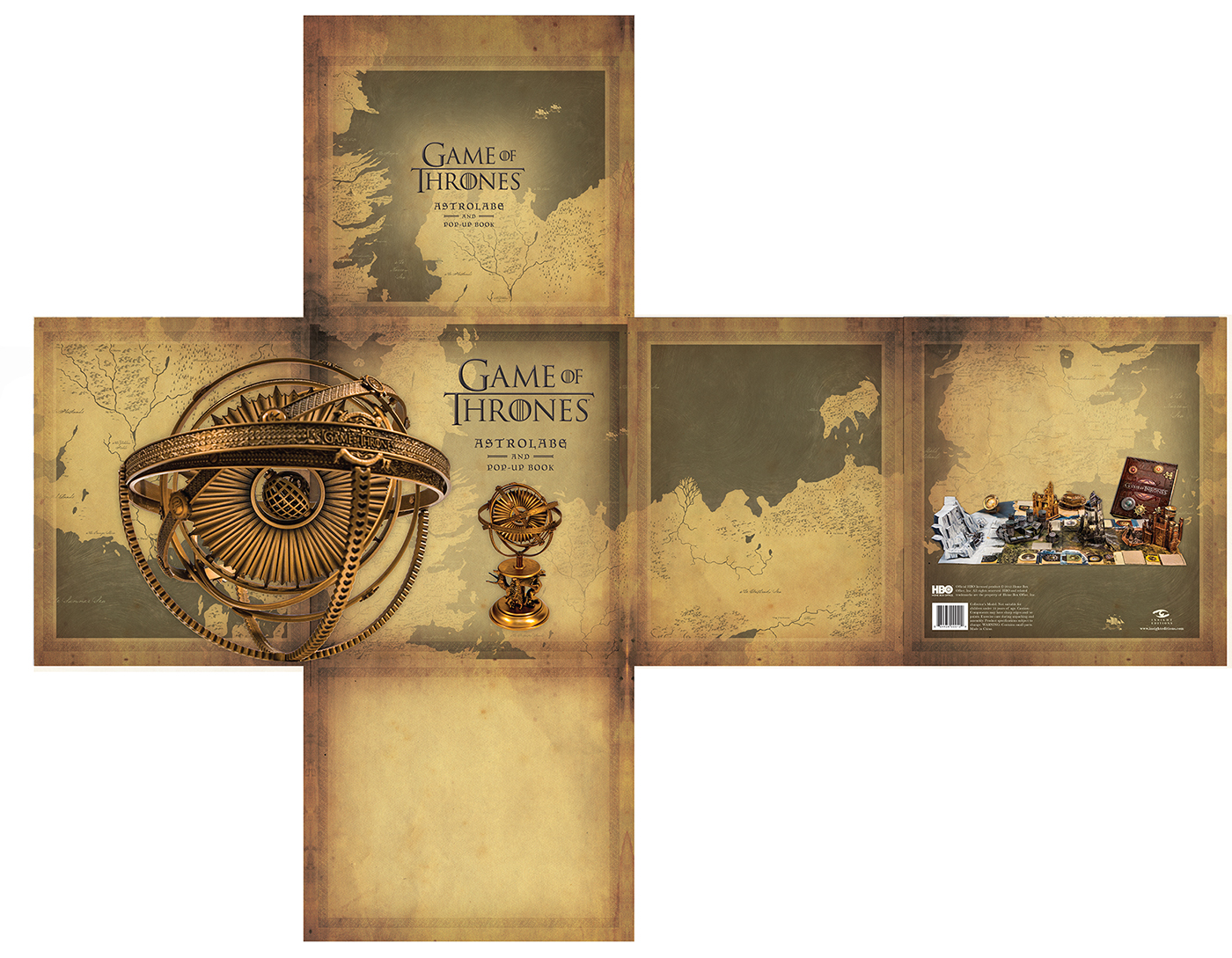 Packaging For Game Of Thrones Collectors Edition Set On