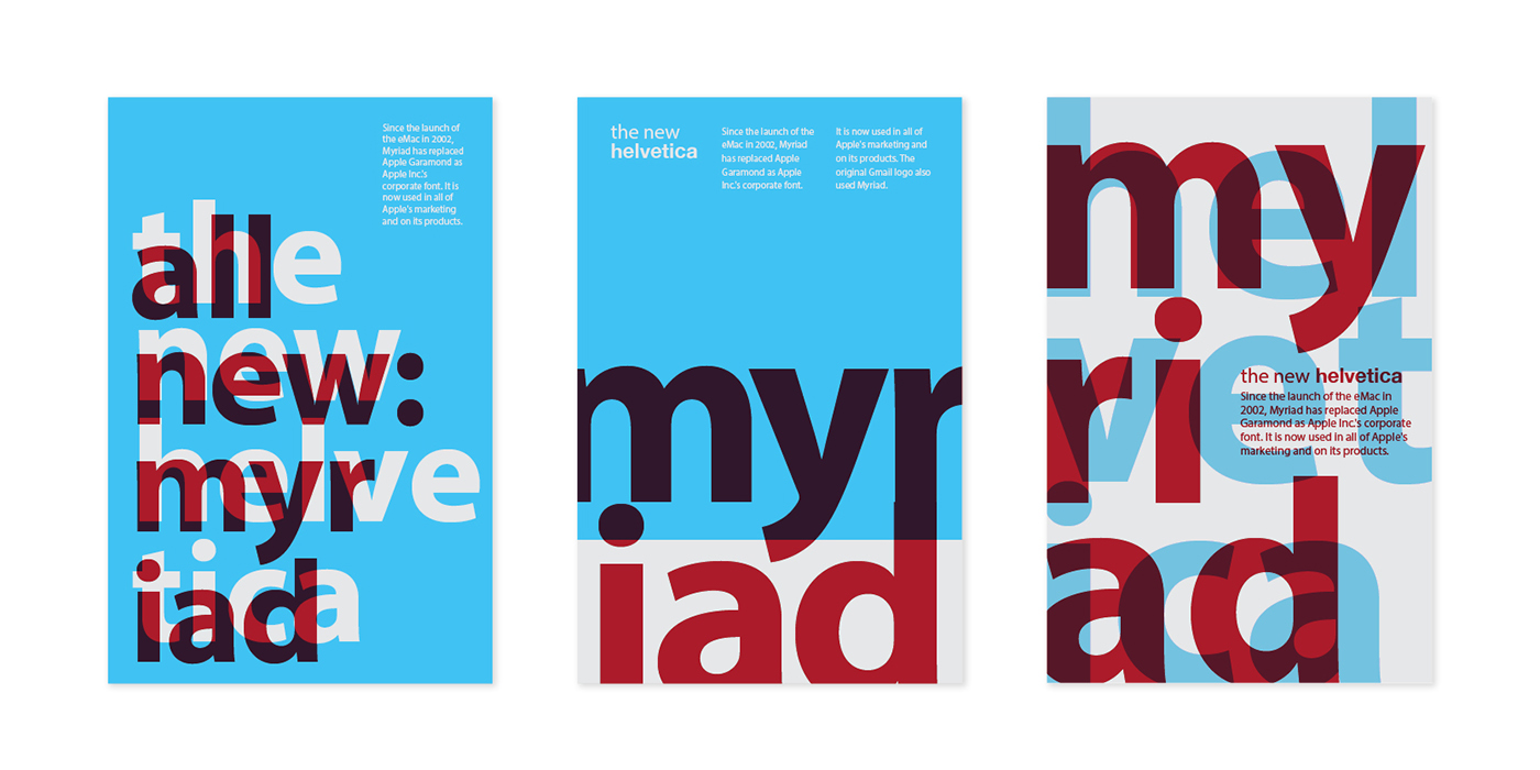 Myriad Poster Series on Behance
