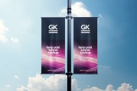 Lamp Post Banner Mock-up on Behance