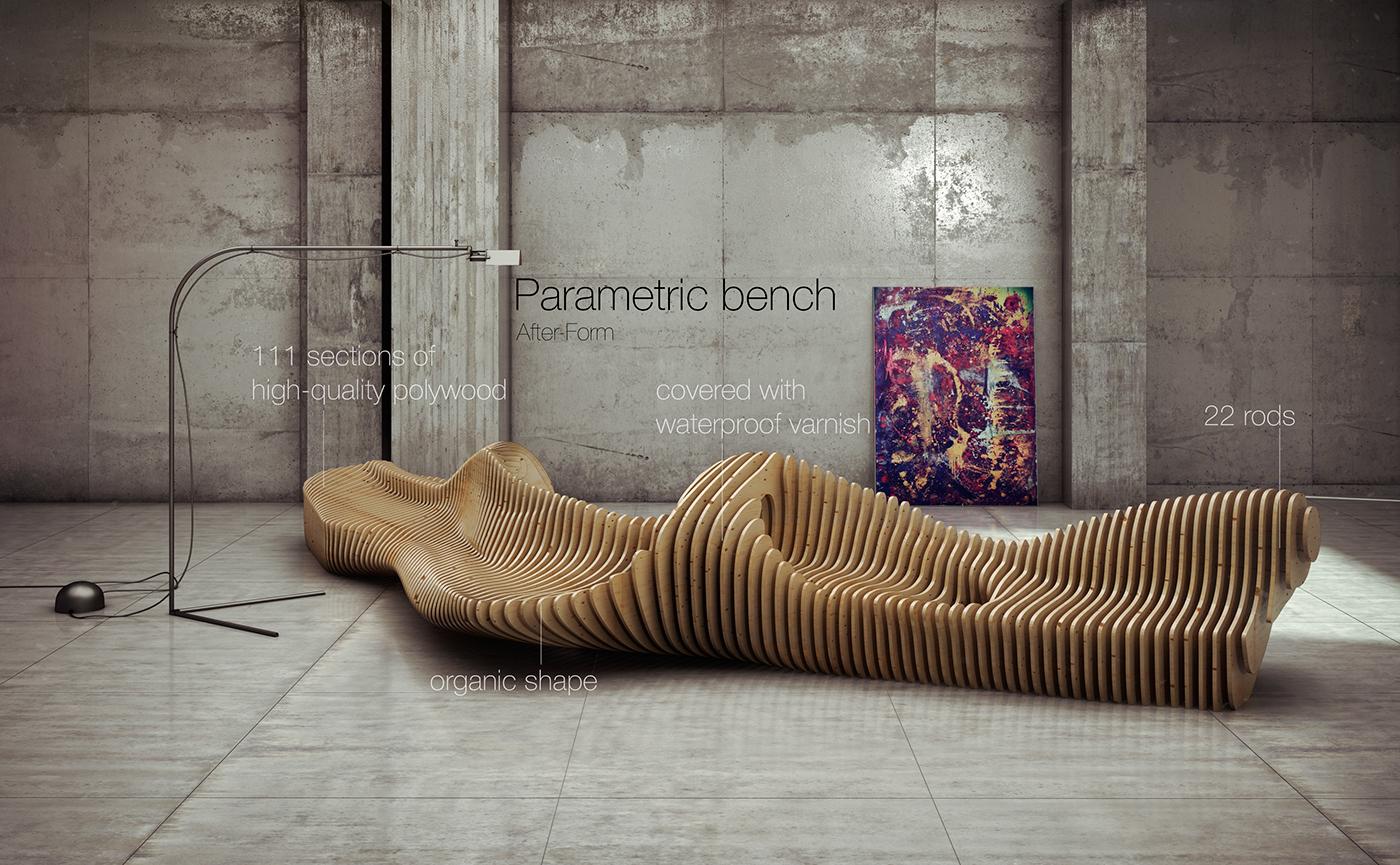Parametric bench on Behance