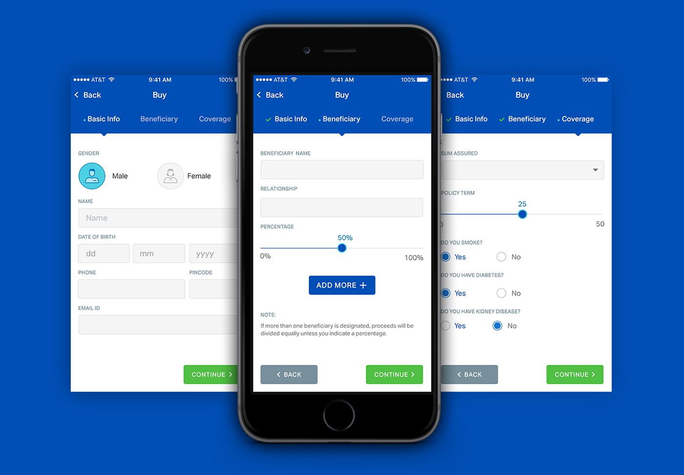 Life Insurance App on Behance