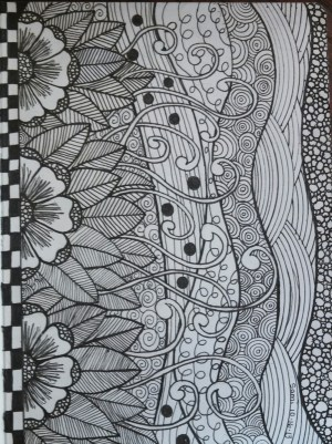 zen doodle drawing drawings zentangle doodles patterns making zentangles simple pattern behance tangle doodling journals atm draw zendoodle flower discover