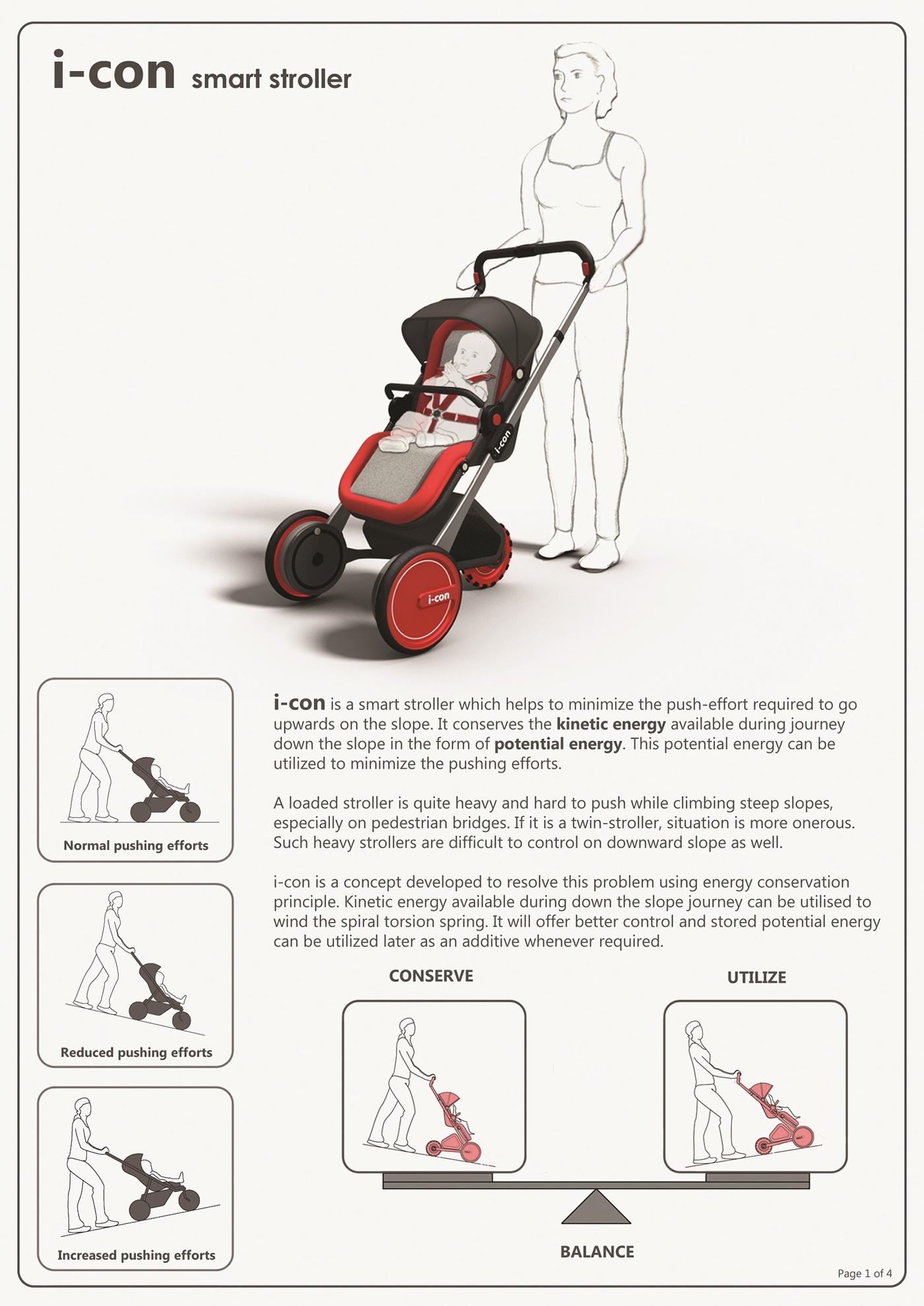 i-con smart stroller on Behance