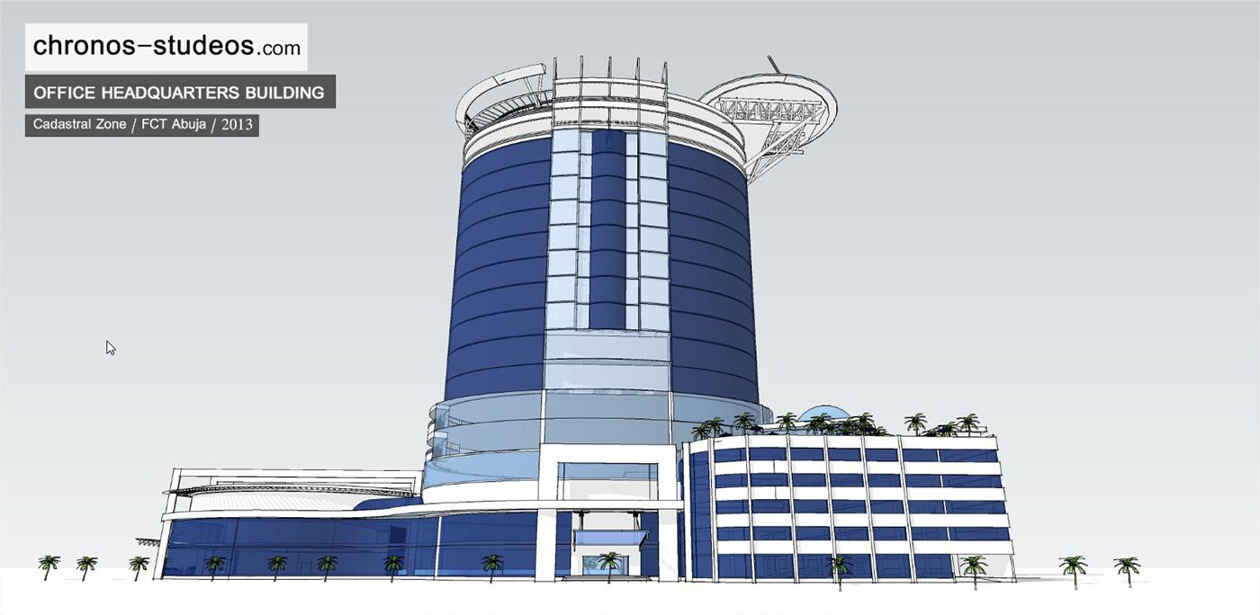 Office Building & Heliport / Abuja on Behance