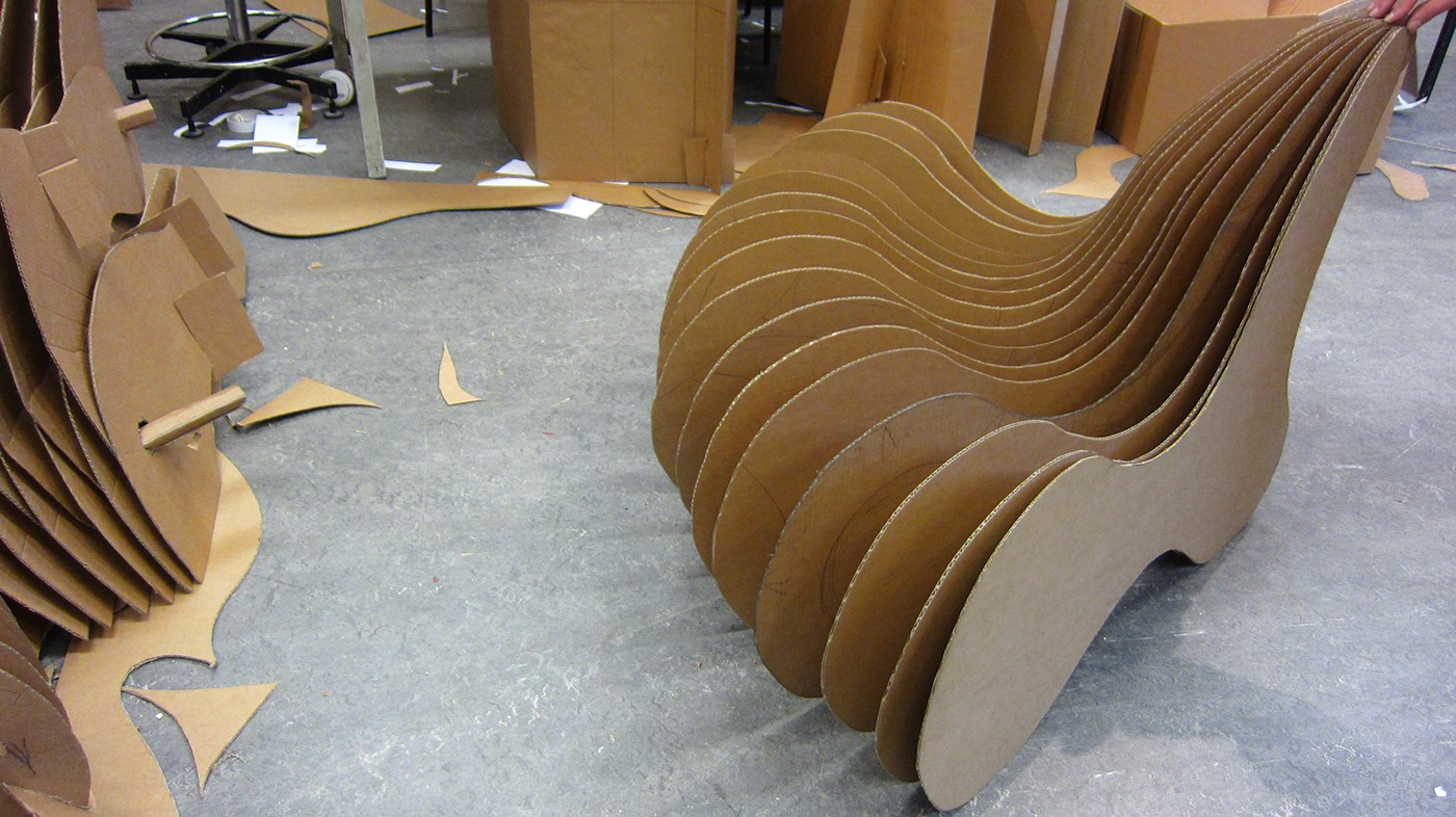 How To Make A Cardboard Chair Cardboard Chair On Behance