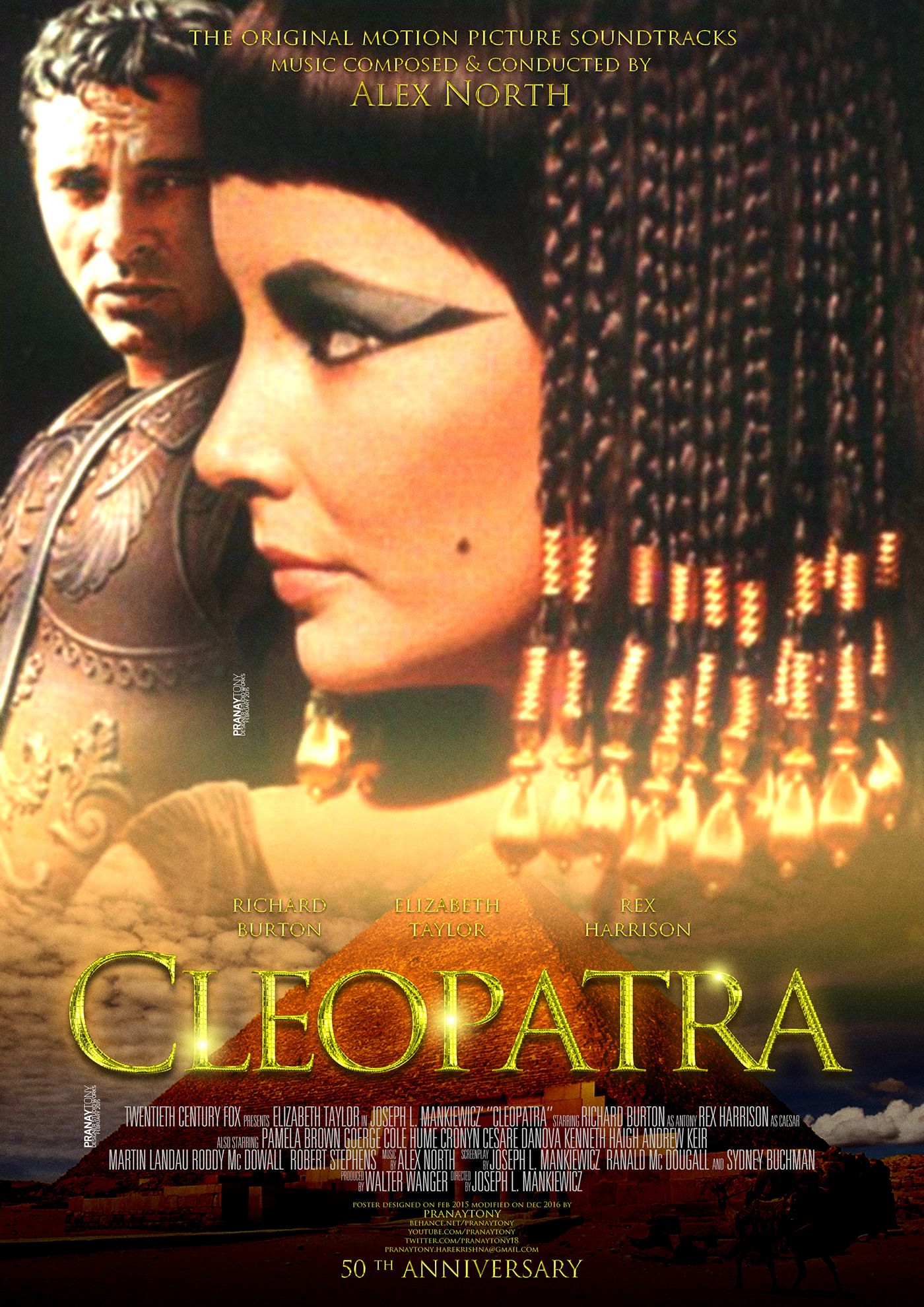 Cleopatra Movie Poster On Behance