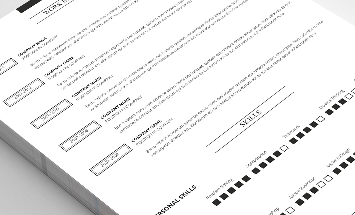 8 PAGES RESUME TEMPLATE on Behance
