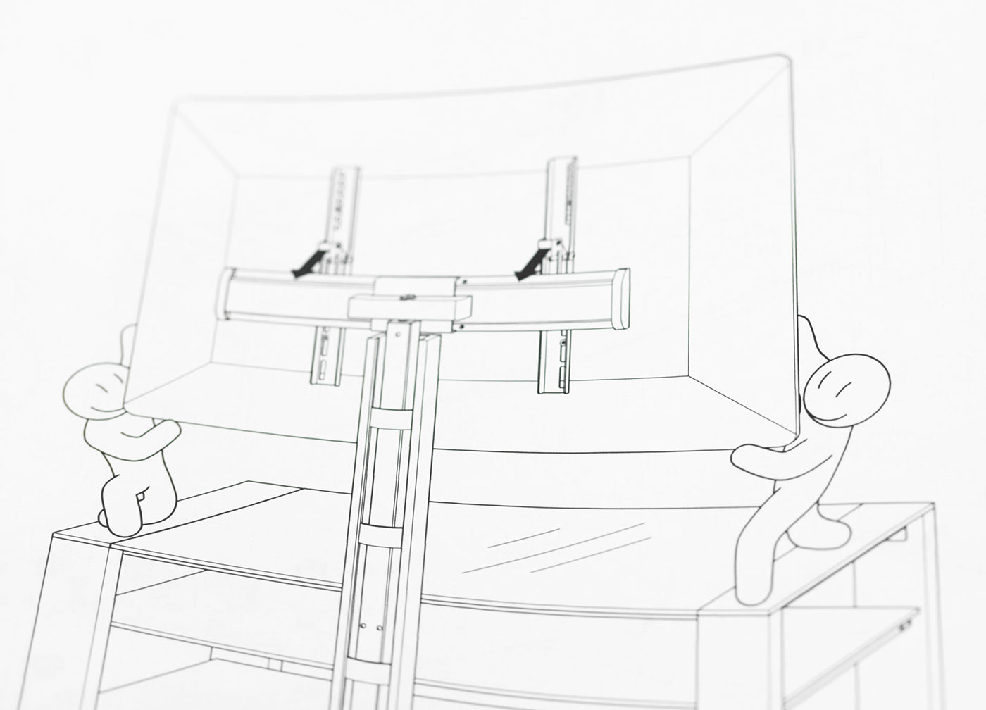 Assembly instructions for Alteza TV tables and racks on