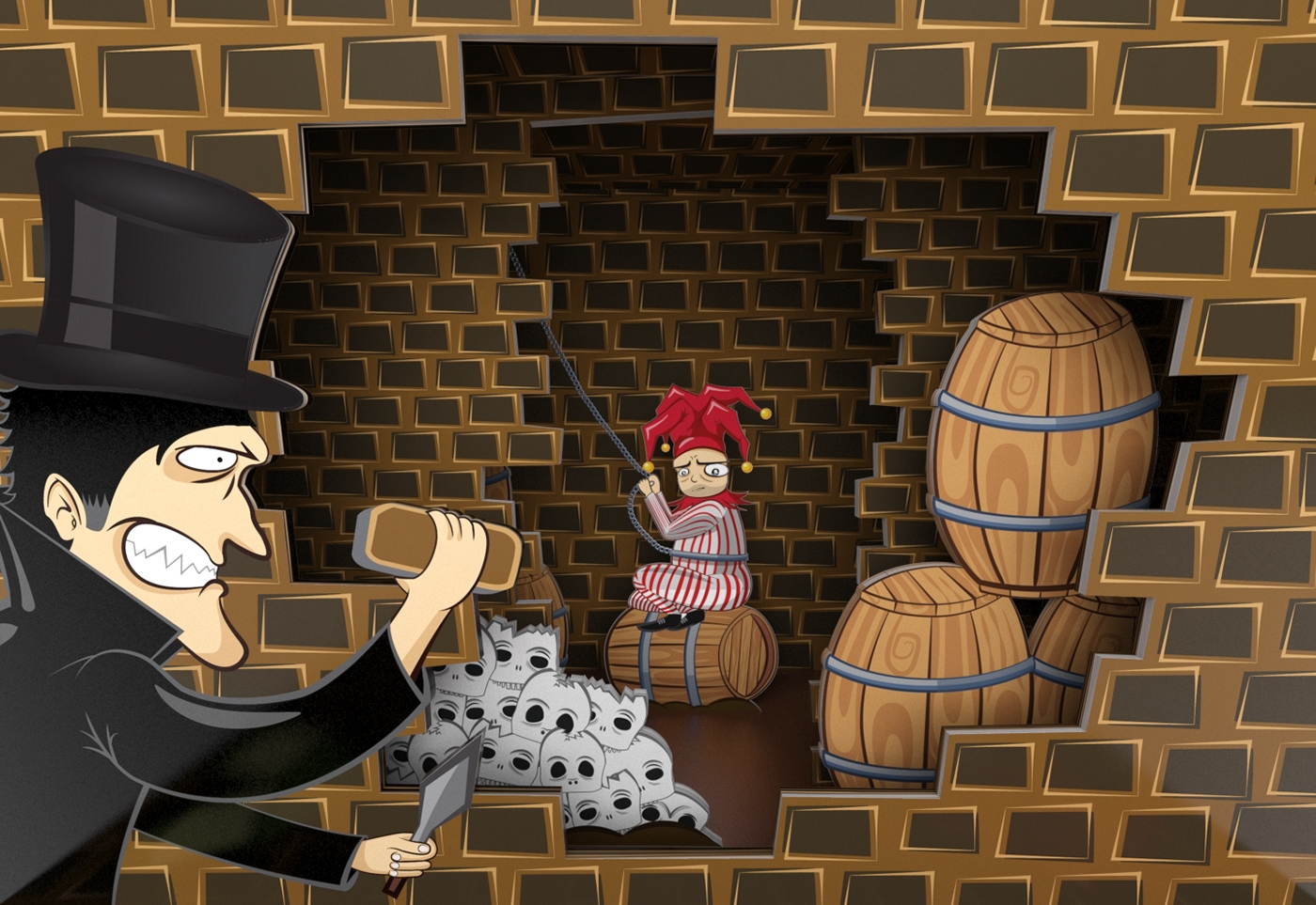 The Cask Of Amontillado Pop Up Theater On Behance