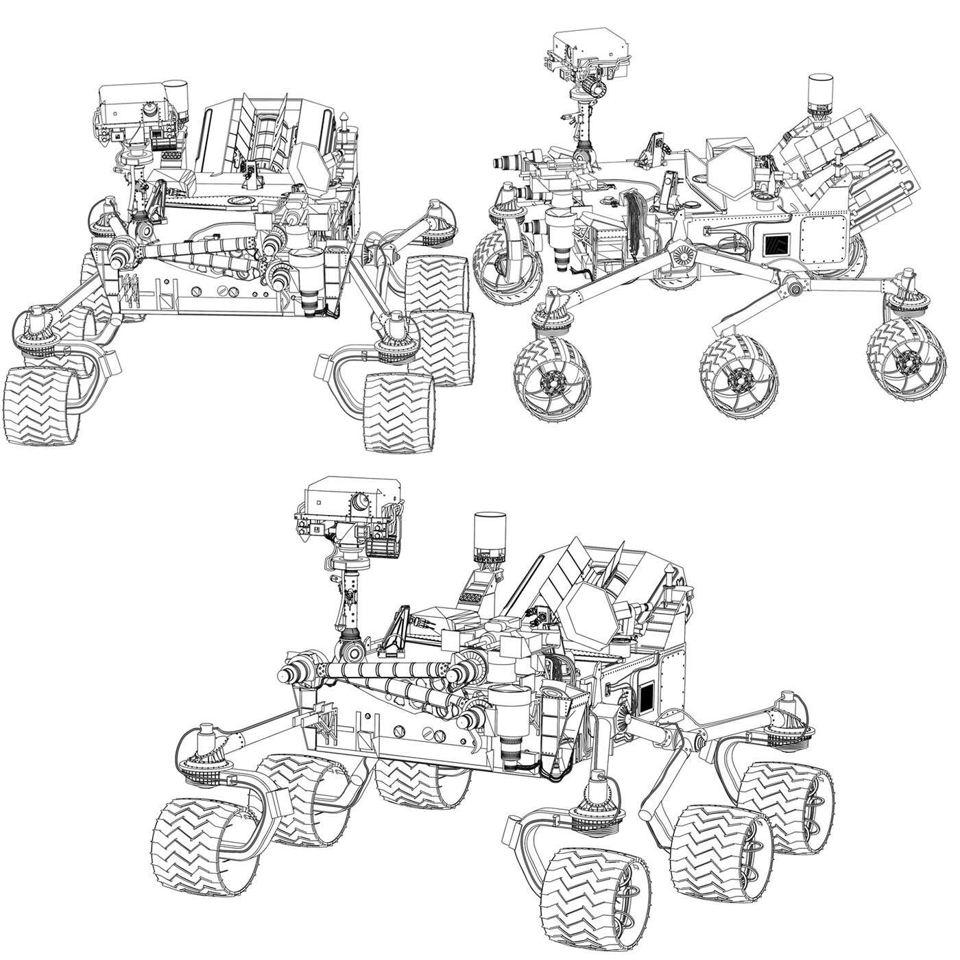 Technical Illustrations, Line Drawings, and Cutaways on