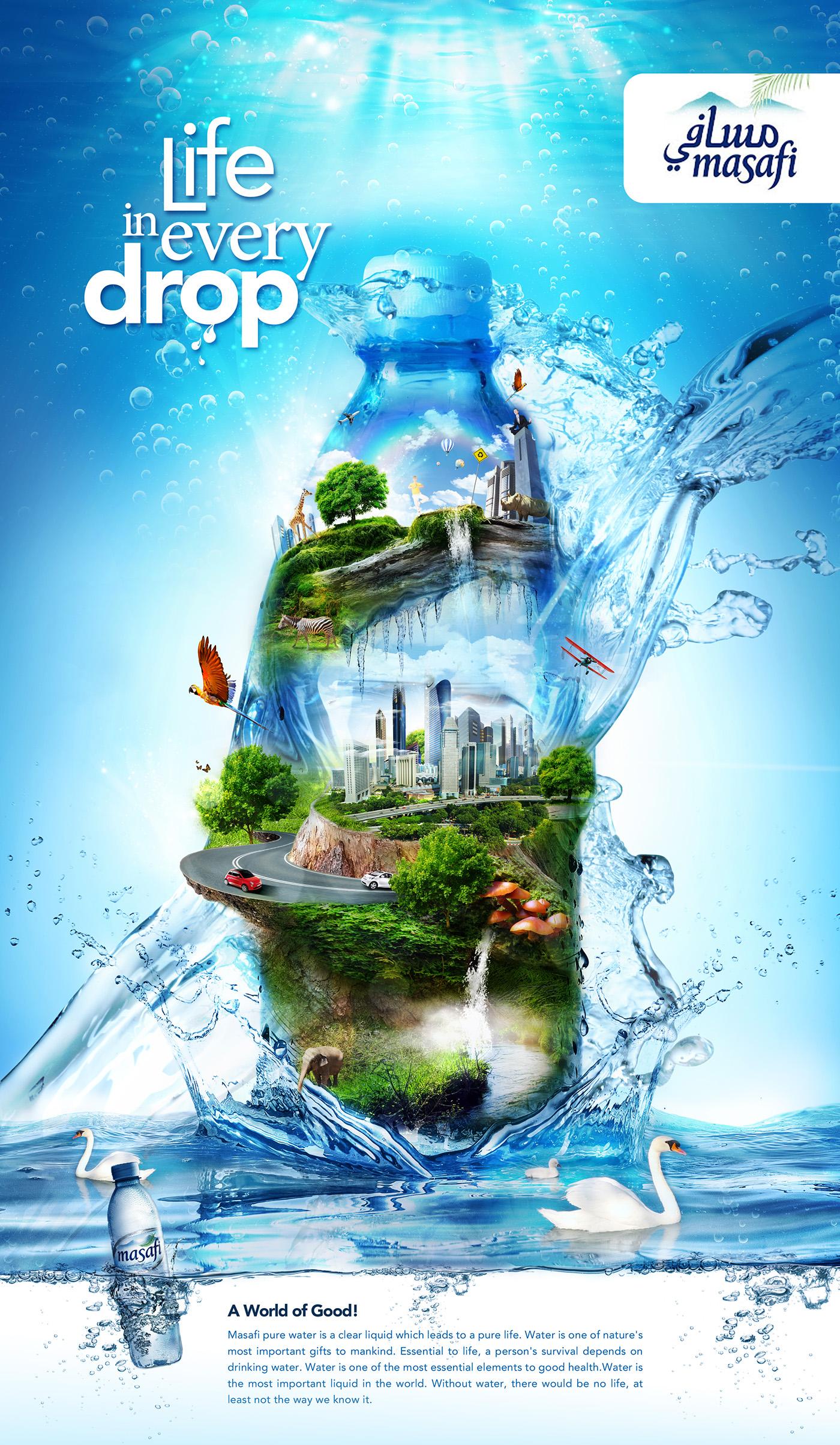 3d Water Drop Live Wallpaper Masafi Mineral Water On Behance