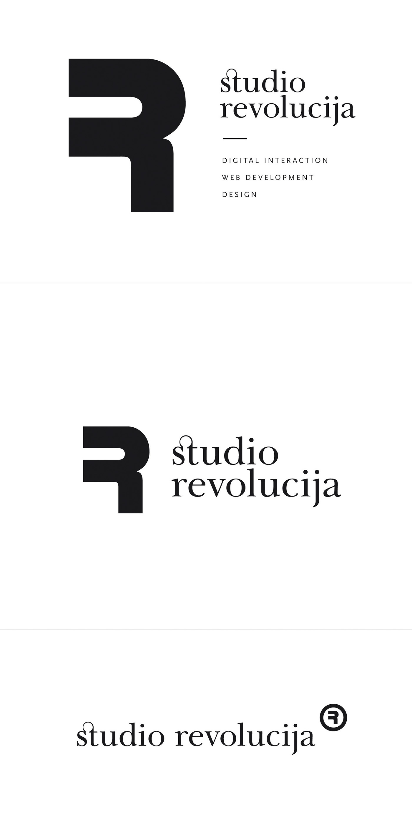 Studio Revolucija identity on Behance