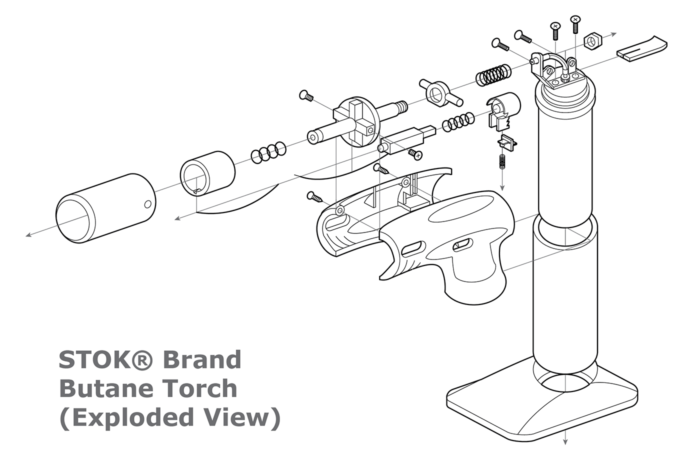 Orthographic, Exploded View, and Technical Drawings on