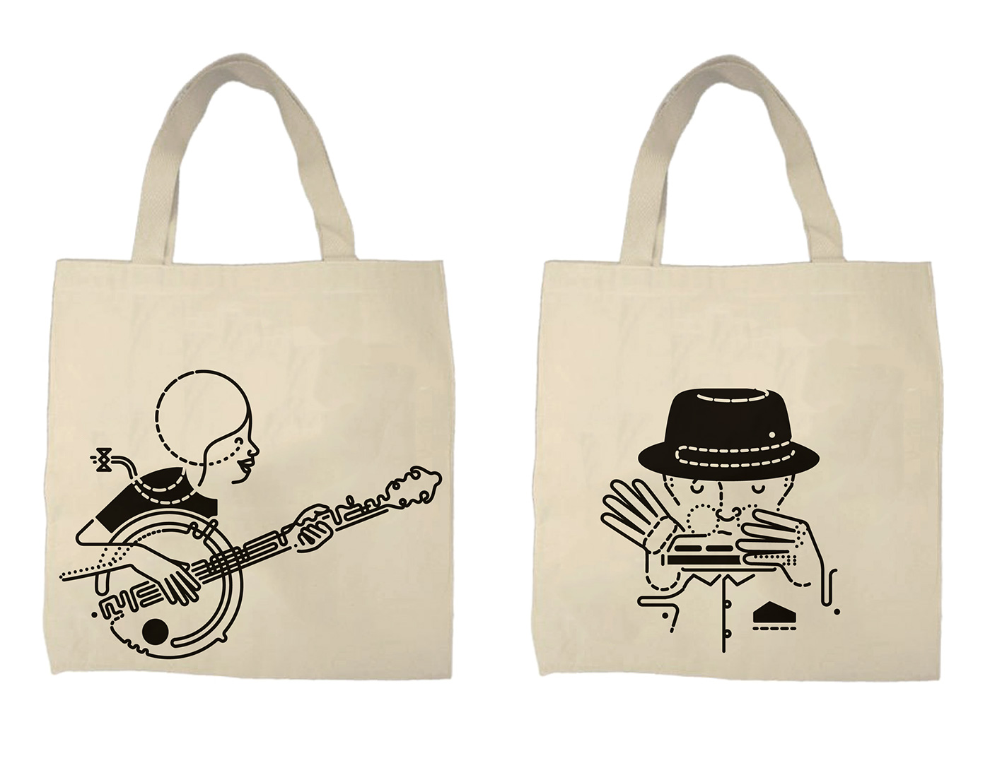 The Guardian - Festival tote bag design pitch on Behance