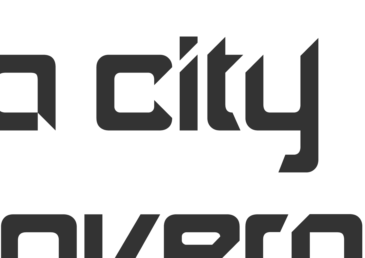 cityrama typeface on Behance