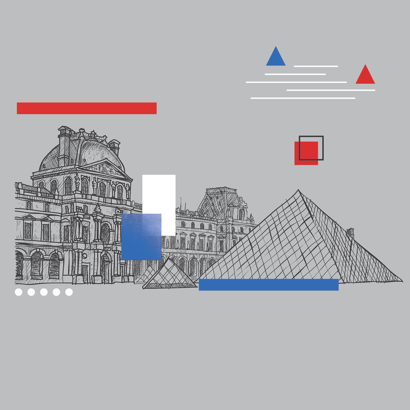 Architecture X Memphis Design (Digital Illustration) on Behance