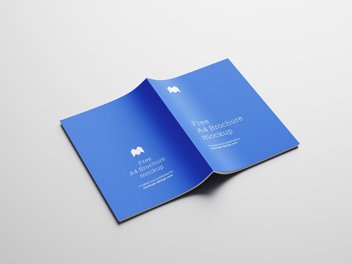 Download Free A4 brochure mockup on Behance