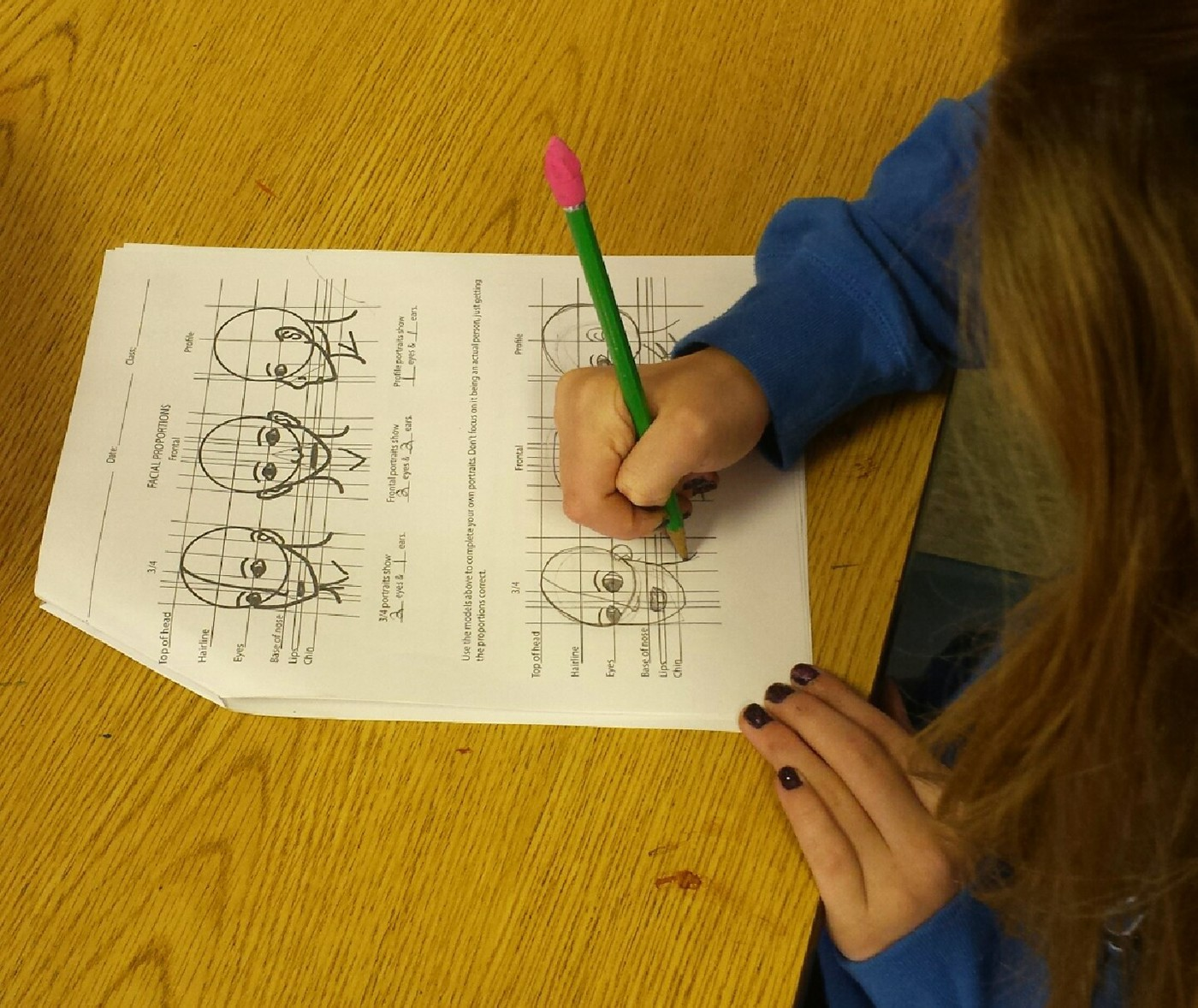 Portrait Worksheet On Behance