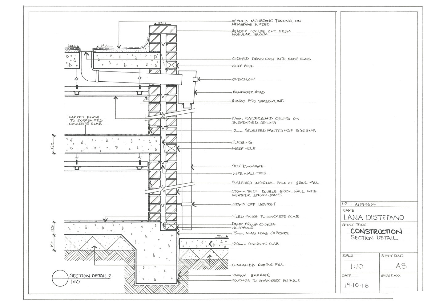 Hand-Drawn Construction Drawings on Behance
