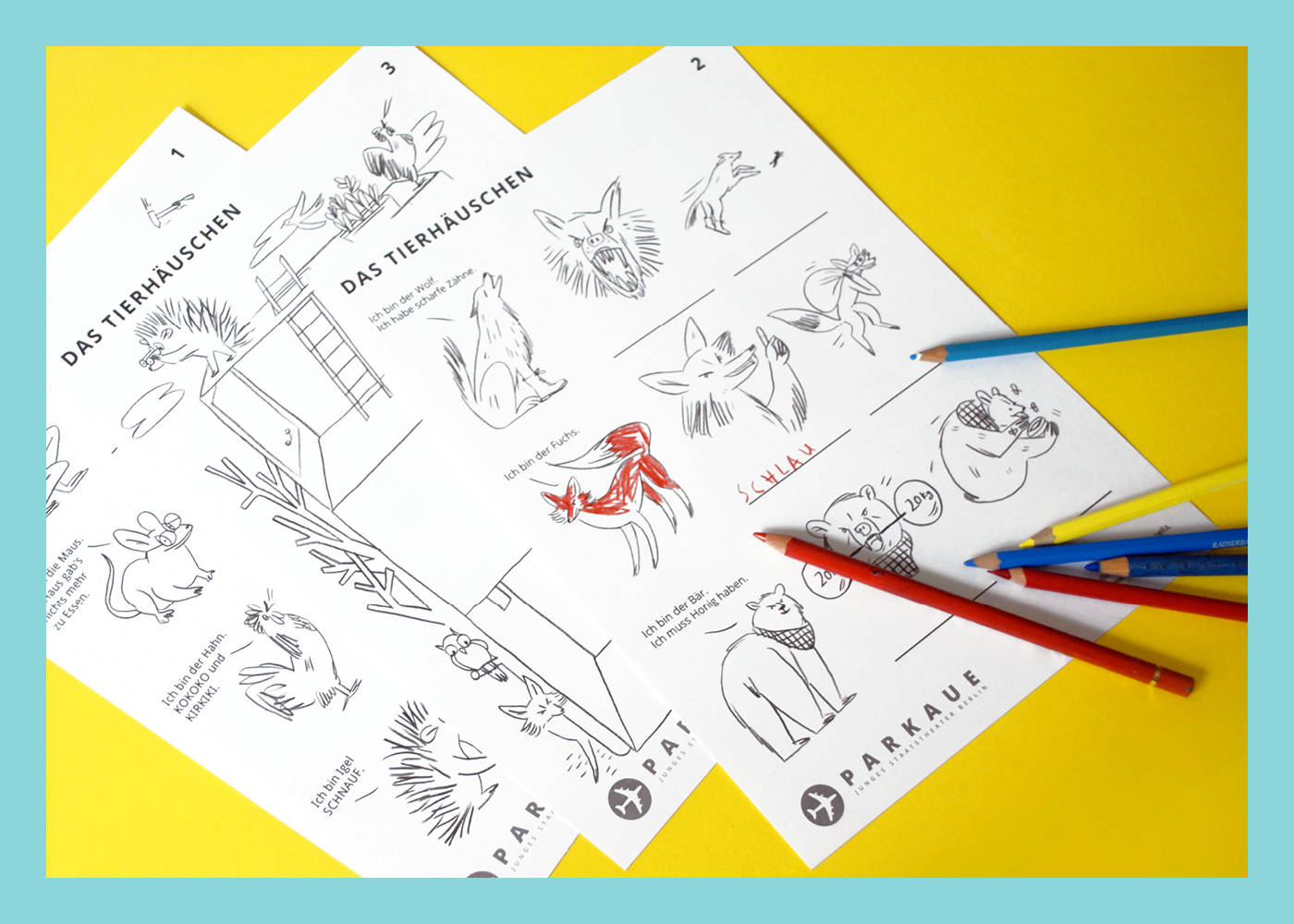 Worksheets For A Children Theater On Behance