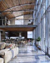 Industrial Loft House Behance