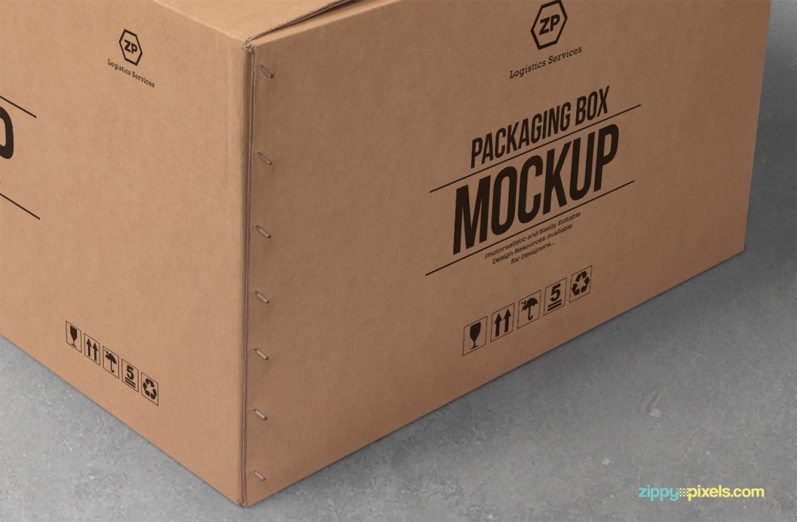 Download Free Cardboard Box Mockup on Behance