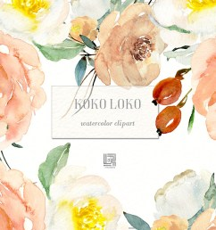 watercolor floral clipart free download  [ 1400 x 934 Pixel ]