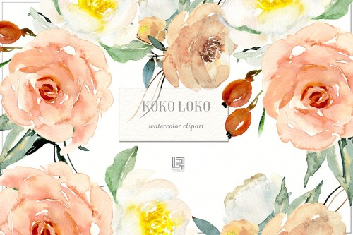 small resolution of watercolor floral clipart free download
