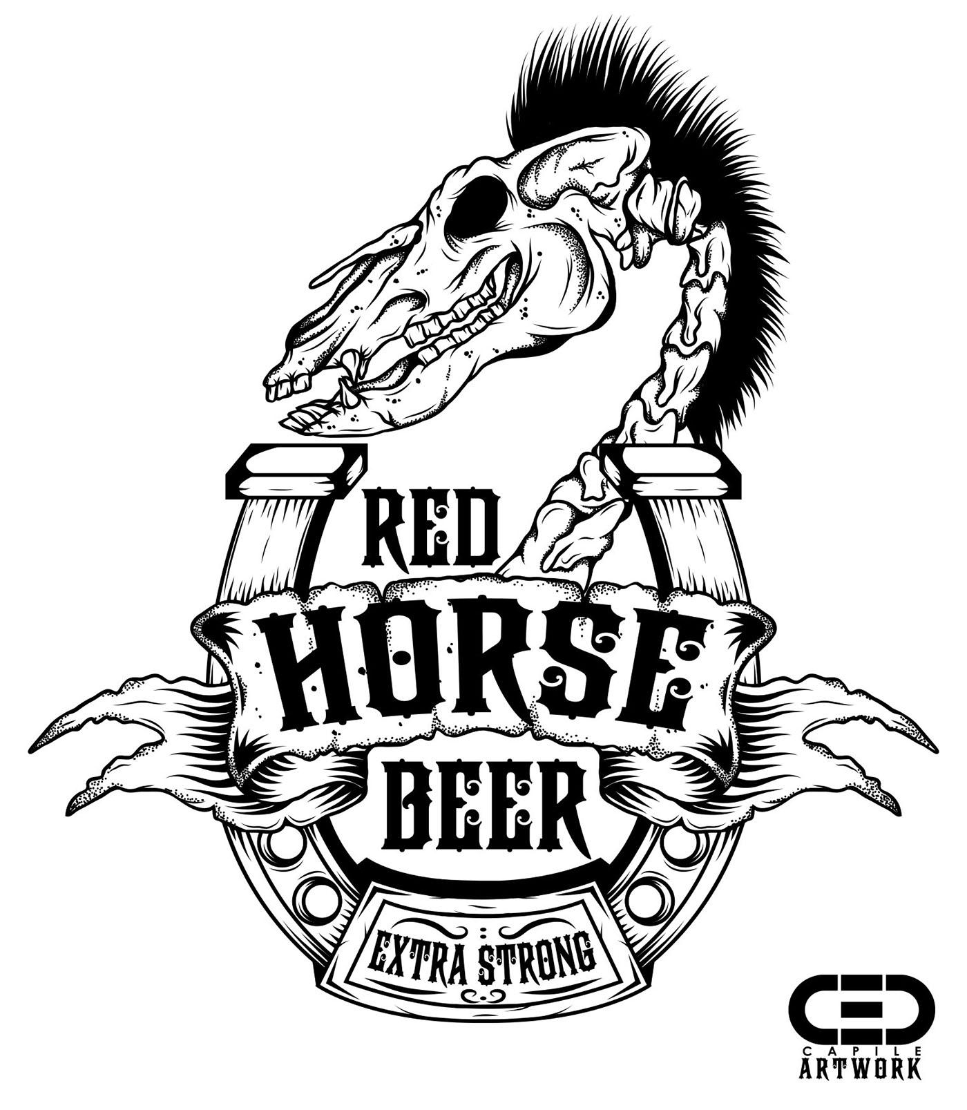 Red Horse Beer Fanart On Behance