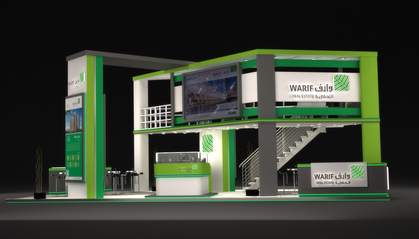 Warif real estate  exhibition booth in ksa 2016 on Behance