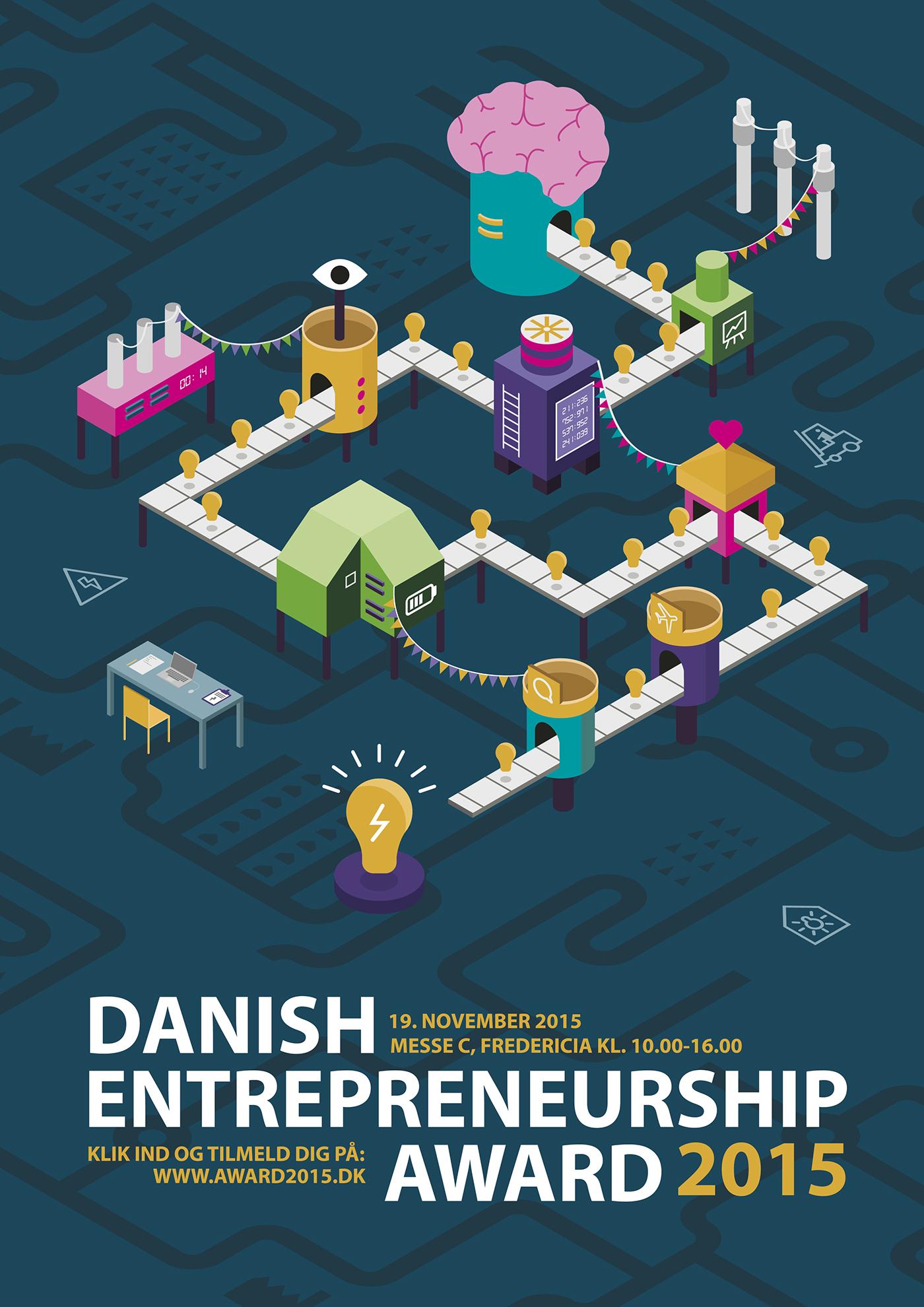 Poster competition - Danish Entrepreneurship Award 2015 on Behance