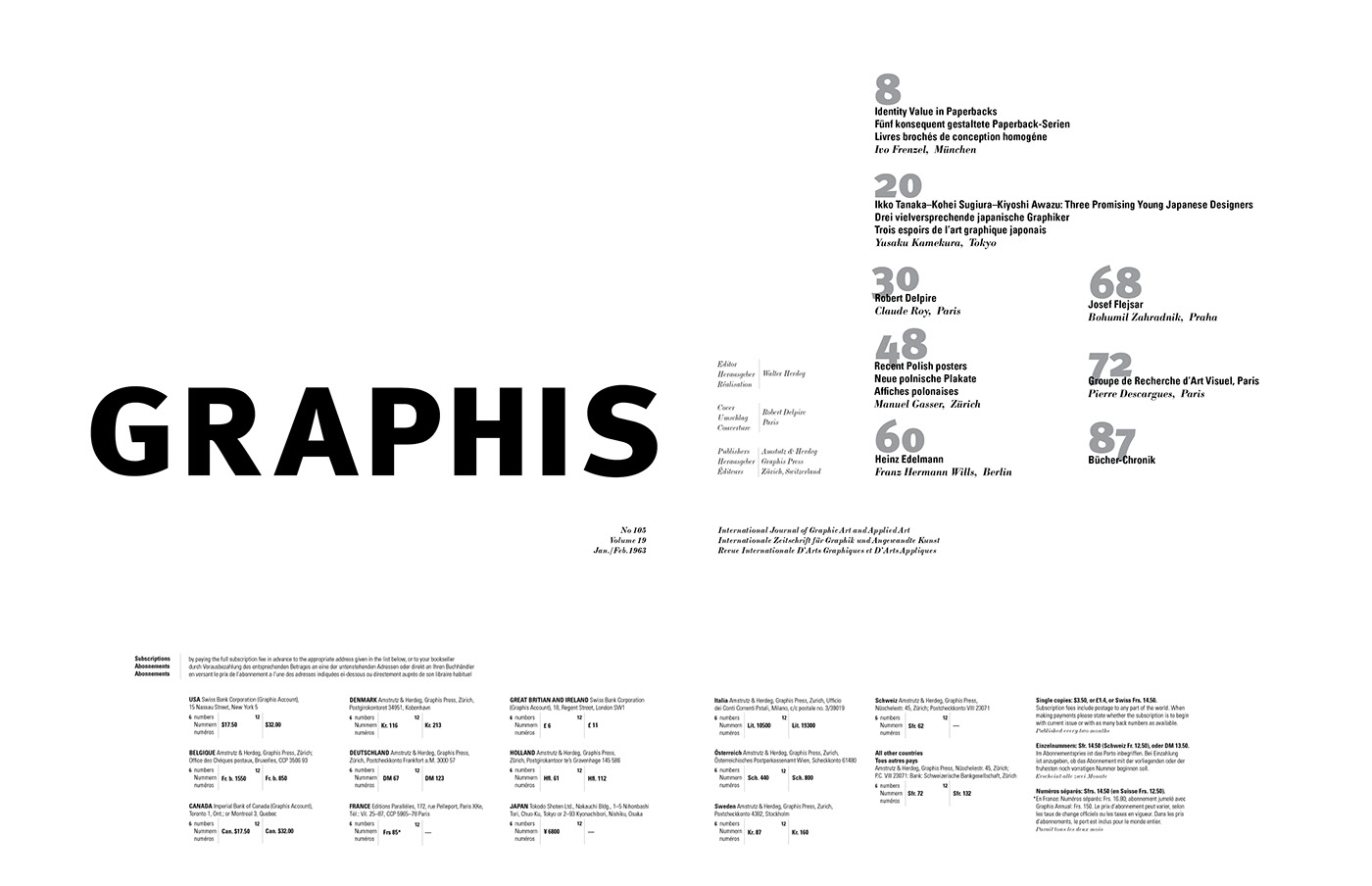 Table Of Contents Experiment On Behance