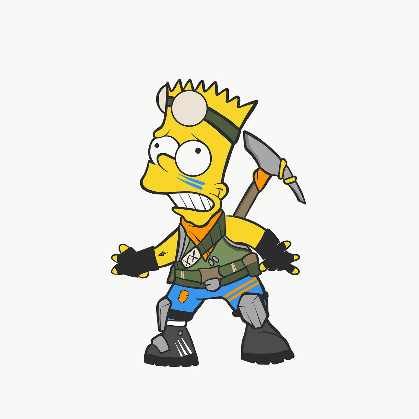 Bart Fortnite Skin On Behance