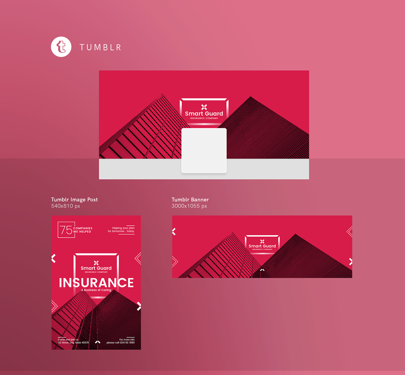After finding the right template… Insurance Agency Company Template Collection On Behance