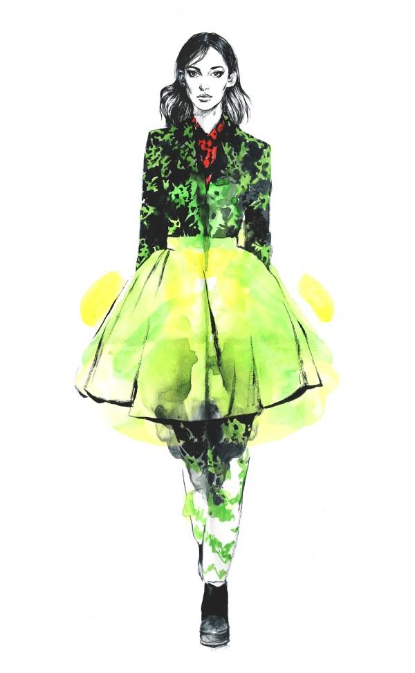 Kenzo. Editorial Fashion Illustration. Behance
