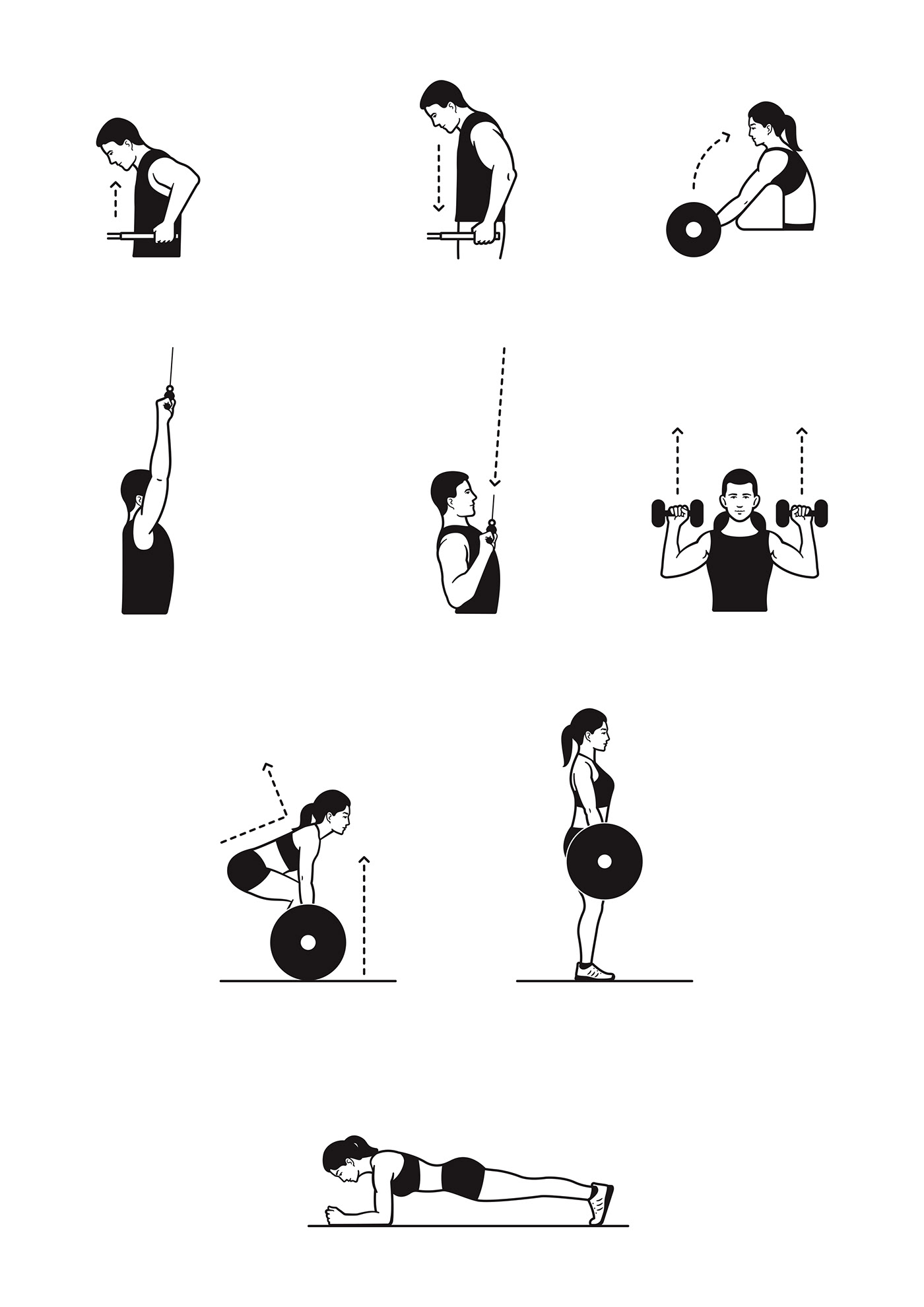 Workout Instructions on Behance