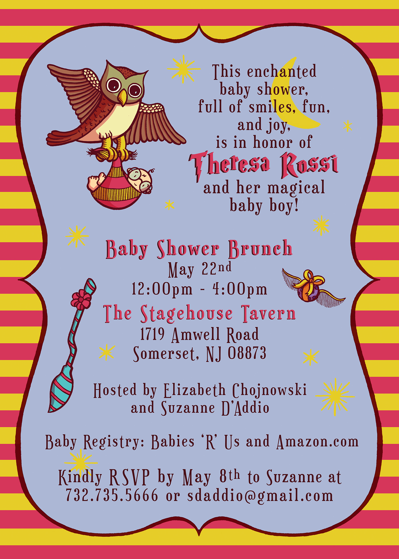 Harry Potter baby shower invitation on Behance
