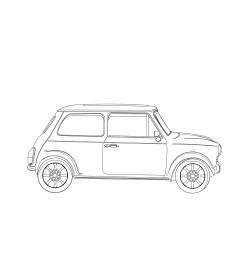 mini cooper  detailed drawing [ 1400 x 1400 Pixel ]