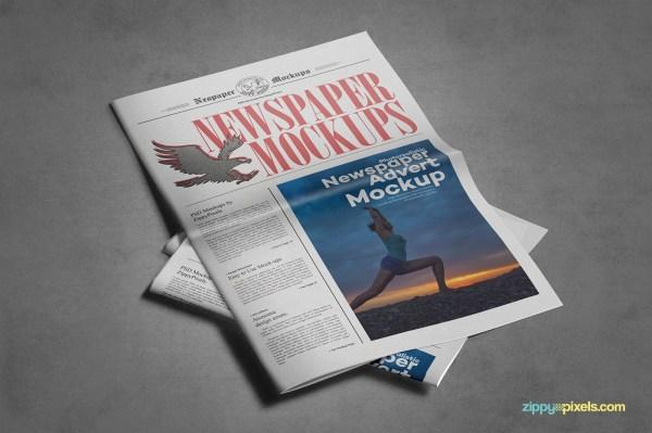 Mockup Newspaper Advertisement
