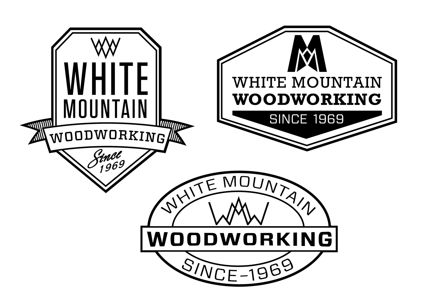 White Mountain Woodworking Branding Project on Behance