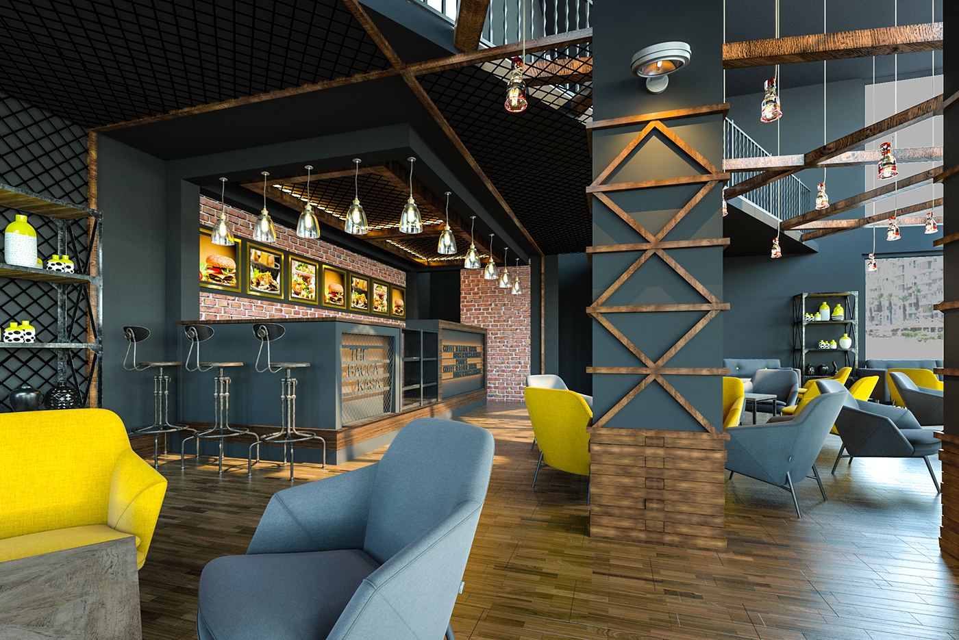 The BACCA CAFE nterior Design on Behance