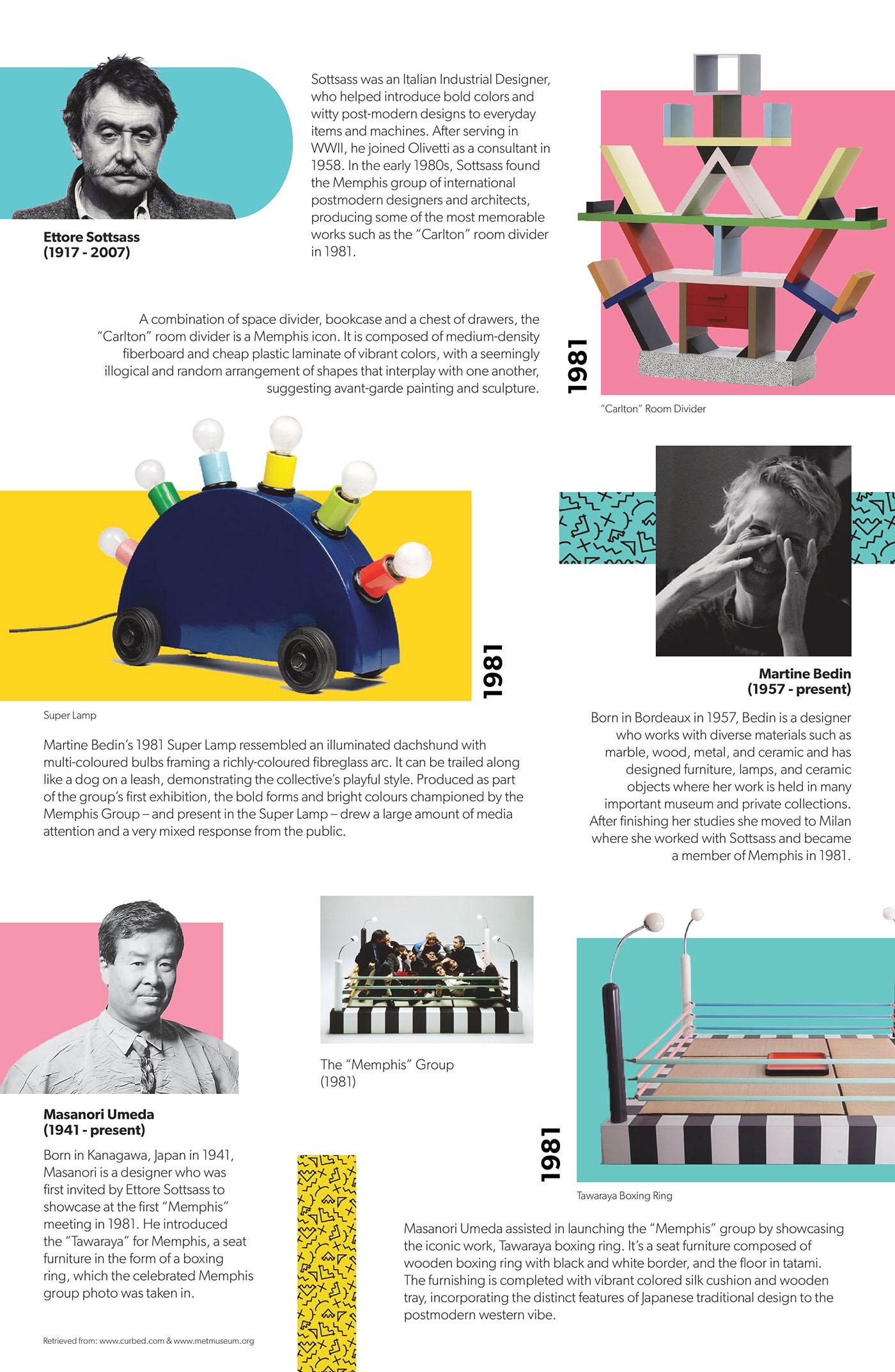 Memphis Design Research Poster on Behance