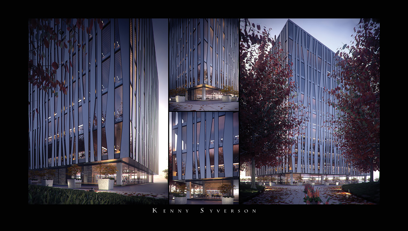 University Of Aberdeen Library Building on Behance