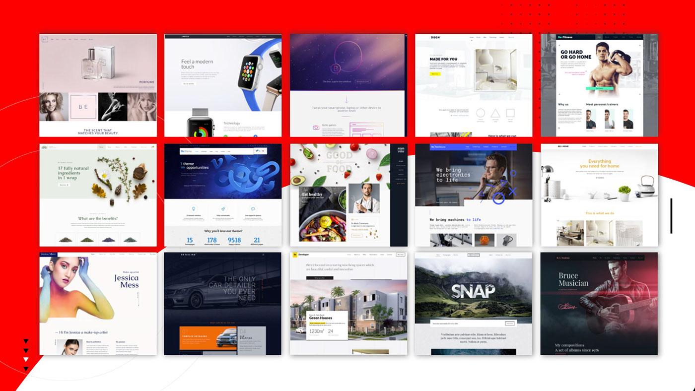 Website Presentation on Behance