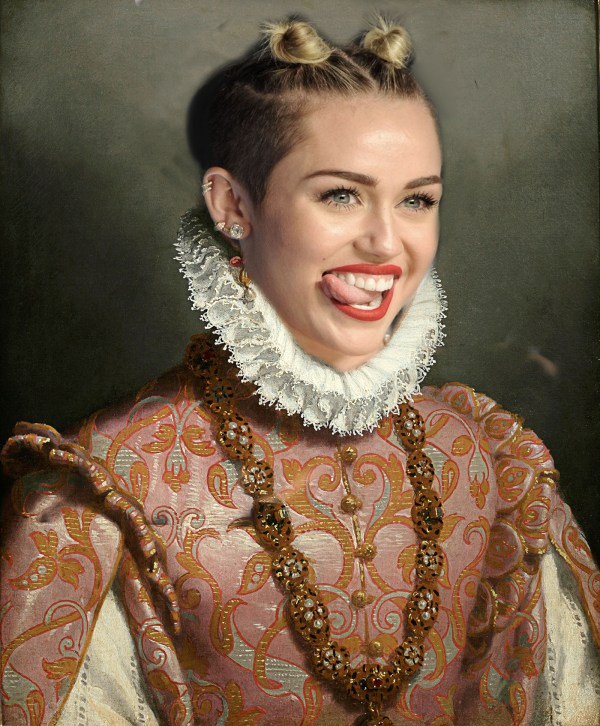 Classical Paintings With Modern Twist - Miley Cyrus