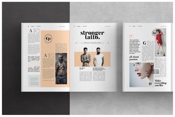 Magazine Layout Behance