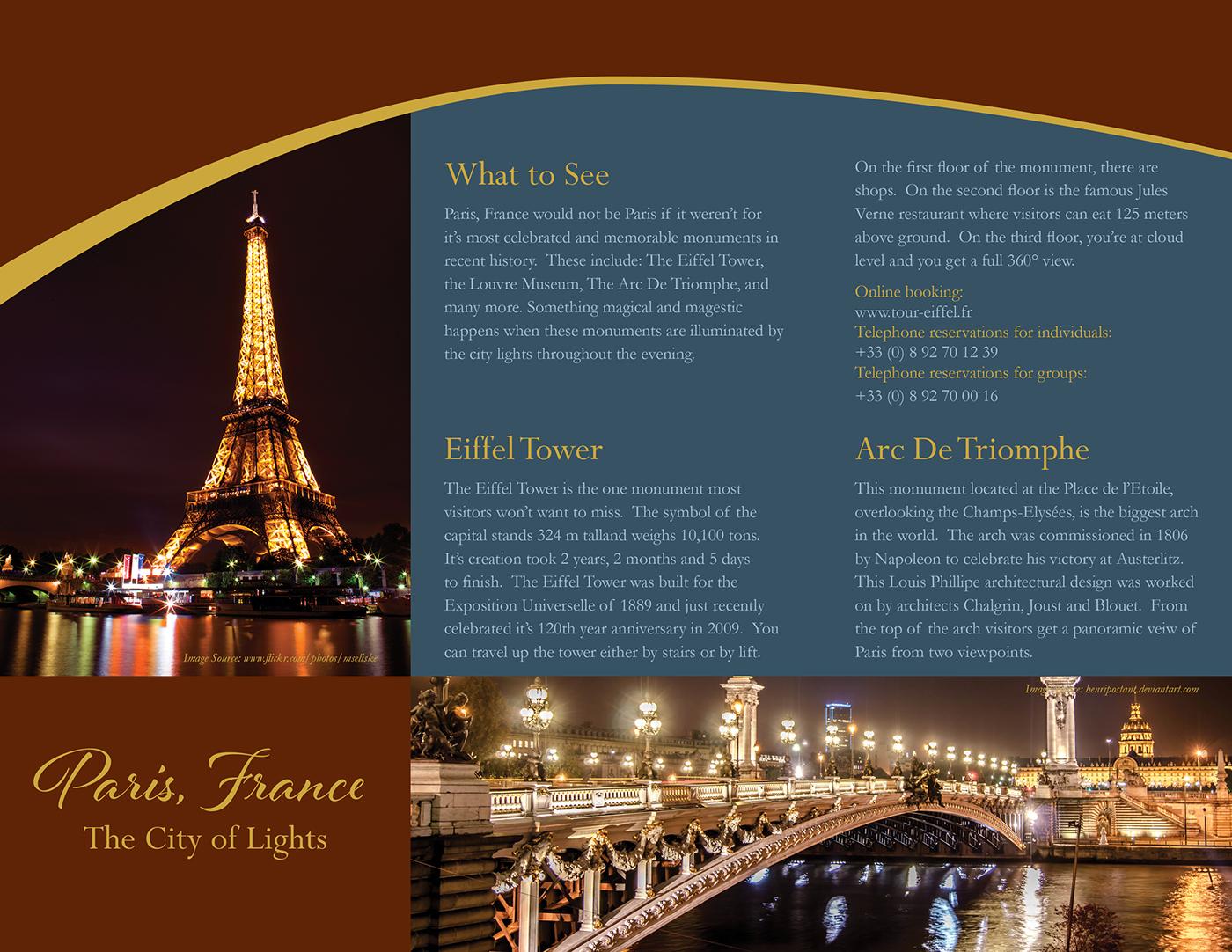Paris France Trifold Brochure On Behance