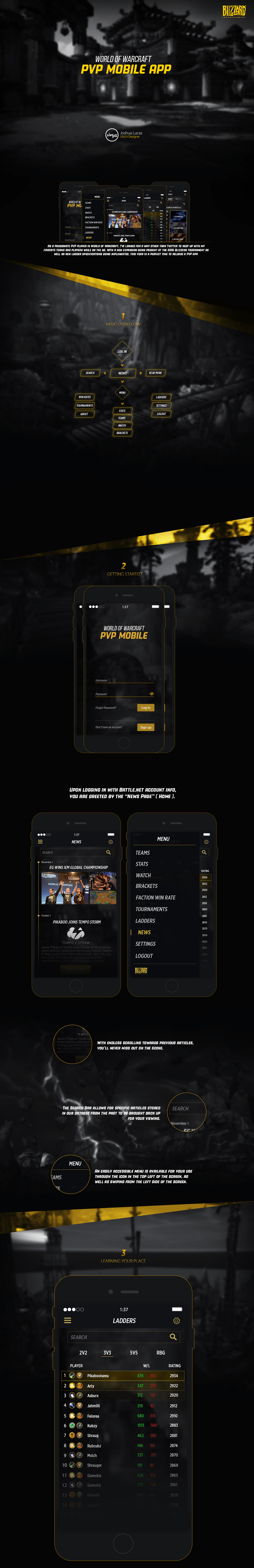 WoW PVP Mobile on Behance