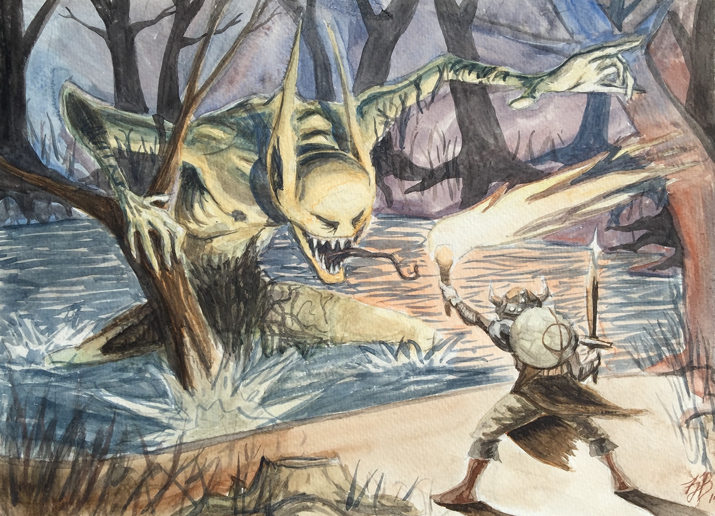 Beowulf vs. Grendel on Behance