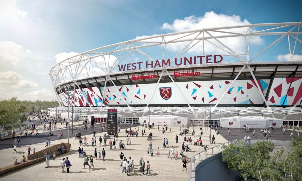 London Olympic Stadium Facade Graphic Manifestation Behance